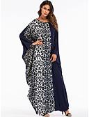 ieftine Bluză-Pentru femei Ieșire De Bază / Boho Larg Shift / Swing / Abaya Rochie Leopard / Bloc Culoare Maxi
