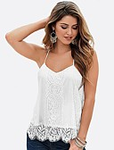 cheap Women's Tanks-Women's Holiday Basic / Street chic Tank Top - Color Block Lace Strap / Summer
