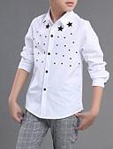 preiswerte Unterröcke für Hochzeitskleider-Kinder Jungen Alltag / Schultaschen Solide Druck Langarm Baumwolle Hemd Weiß