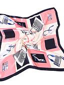 halpa Naisten huivit-Naisten Vintage Neliö - Painettu Silmukka Silkki / Polyesteri