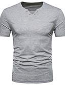 ieftine Maieu & Tricouri Bărbați-Bărbați În V Tricou Bumbac Activ - Mată / Manșon scurt