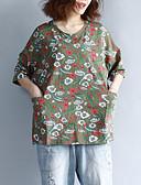 halpa T-paita-naisten t-paita - kukka pyöreä kaula