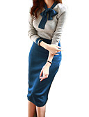 povoljno Ženski dvodijelni kostimi-Žene Rad Slim Sweater - Color block Haljine / Ljeto