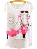ieftine Tricou-Pentru femei Tricou Animal Imprimeu Leu / Pisica