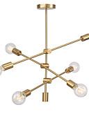 baratos Vestidos Baile Formatura-Modernas luzes pingente galvanizado com 6-luzes luminária embutida sala de estar sala de jantar quarto lustre