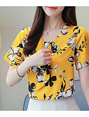 abordables Camisas y Camisetas para Mujer-Mujer Noche Camiseta Floral