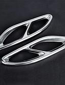 abordables Corbatas y Pajaritas para Hombre-2pcs 20mm Escape Extremidades Tubo de escape Doblado Metal Silenciador de Escape For Mercedes-Benz E300L / E200L / E260L 2018 / 2017 /