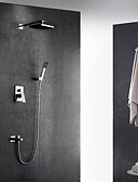 cheap Wedding Veils-Shower Faucet - Contemporary Chrome Wall Mounted Ceramic Valve