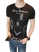 ieftine Maieu & Tricouri Bărbați-Bărbați Tricou De Bază Șic Stradă - Portret Scrisă