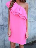 זול שמלות נשים-סירה רחב מעל הברך אחיד - שמלה ישרה בגדי ריקוד נשים