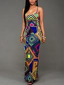 povoljno Maxi haljine-Žene Vintage Bodycon Haljina Geometrijski oblici Maxi