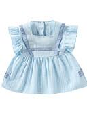 povoljno Kompletići za bebe-Dijete Djevojčice Prugasti uzorak Kratkih rukava Haljina