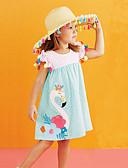 povoljno Haljine za djevojčice-Dijete koje je tek prohodalo Djevojčice Flamingosi Prugasti uzorak / Cvjetni print / Color block Bez rukávů Haljina