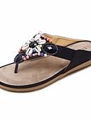 cheap Wedding Dresses-Women's Shoes PU(Polyurethane) Summer Comfort Slippers & Flip-Flops Flat Heel Black / Red / Blue