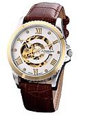 ieftine Ceasuri Digitale-Bărbați Ceas Elegant Japoneză Mecanism automat 30 m Cronograf Piele Autentică Bandă Analog Creative Modă Maro - Maro / Oțel inoxidabil