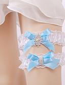 preiswerte Zeremonie Dekoration-Chiffon - Satin Vintage Stil Hochzeitsstrumpfband Mit Strass / Schleife / Spitze Strumpfbänder Hochzeit / Party & Festivität