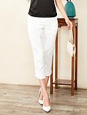 tanie Spodnie-Damskie Podstawowy Szczupła Typu Chino Spodnie - Haftowane, Jendolity kolor / Geometryczny / Lato