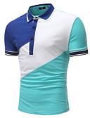 זול חולצות פולו לגברים-קולור בלוק בסיסי Polo - בגדי ריקוד גברים