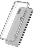 זול מגנים לטלפון-מגן עבור Apple iPhone X / iPhone 8 Plus / iPhone 8 עמיד בזעזועים / גוף שקוף כיסוי אחורי אחיד רך TPU