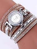 ieftine Quartz-Pentru femei Ceas Brățară Quartz Ceas Casual imitație de diamant PU Bandă Analog Boem Modă Negru / Alb / Albastru - Albastru Roz Kaki Un an Durată de Viaţă Baterie