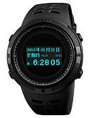 levne Vojenské hodinky-SKMEI Pánské Sportovní hodinky Digitální hodinky japonština Digitální Z umělé kůže Černá 50 m Voděodolné Alarm Chronograf Digitální Na běžné nošení Módní - Černá Červená Modrá Jeden rok Životnost