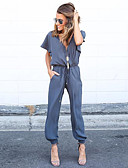 cheap Women's Jumpsuits & Rompers-Women's Jumpsuit - Solid Colored, Lace up