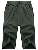povoljno Muške duge i kratke hlače-Muškarci Osnovni Veći konfekcijski brojevi Širok kroj Chinos Hlače Jednobojni / Sport