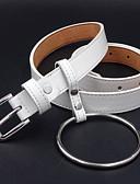 abordables Cinturones a la Moda-Mujer Piel Cinturón de Cintura - Activo / Básico Un Color