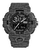 Недорогие Спортивные часы-Жен. Спортивные часы электронные часы Японский Цифровой силиконовый Черный 50 m Защита от влаги Календарь Творчество Аналого-цифровые Серый Зеленый Синий Два года Срок службы батареи