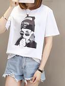 baratos Calças Femininas-t-shirt feminina - retrato em volta do pescoço