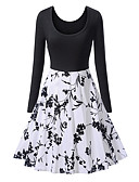 baratos Vestidos Vintage-Mulheres Vintage / Boho Delgado Calças - Geométrica Estampado Preto / Feriado / Para Noite