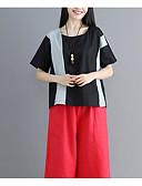 ieftine Tricou-Pentru femei Tricou Vintage - Mată Franjuri Negru & Roșu