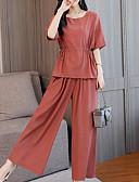 ieftine Costum Damă Două Bucăți-Pentru femei De Bază / Șic Stradă Set - Mată, Pantaloni Cu Șiret