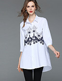 cheap Women's Tops-SHIHUATANG Women's Basic / Street chic Shirt - Floral Embroidered
