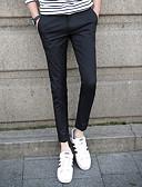 tanie Męskie spodnie i szorty-Męskie Prosty Szczupła Typu Chino Spodnie Solidne kolory