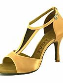 abordables Chaquetas con Capucha para Mujer-Mujer Zapatos de Baile Latino / Zapatos de Salsa Satén Sandalia / Tacones Alto Hebilla / Corbata de Lazo Tacón Personalizado Personalizables Zapatos de baile Amarillo / Fucsia / Morado / Rendimiento