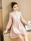 cheap Women's Dresses-Women's Cute A Line Dress - Solid Color, Classic Style High Rise Stand