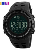 cheap Dress Watches-SKMEI Men's Sport Watch Digital 30 m Water Resistant / Water Proof Bluetooth Calendar / date / day Silicone Band Digital Casual Fashion Black - Gold Black Coffee One Year Battery Life / Large Dial