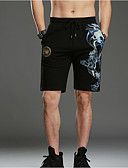 tanie Męskie spodnie i szorty-Męskie Szorty Spodnie - Geometric Shape Patchwork Czarny / Wiosna / Lato