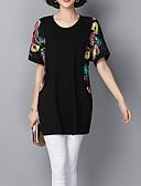 tanie T-shirt-T-shirt Damskie Bawełna Kwiaty