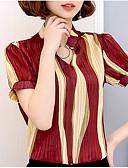 ieftine Bluză-Pentru femei Tricou Vintage - Carouri Franjuri Negru & Roșu