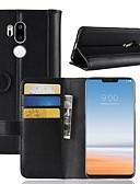 tanie Etui na telefony-Kılıf Na LG LG V20 MINI / G7 Portfel / Etui na karty / Flip Pełne etui Solidne kolory Twardość Prawdziwa skóra na LG V30 / LG V20 MINI / LG Q6
