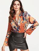 ieftine Bluze de Damă-Pentru femei V Adânc Wrap Floral