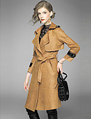 cheap Women's Skirts-YHSP Women's Sophisticated Street chic Trench Coat - Solid Colored Shirt Collar