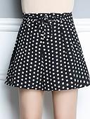 ieftine Pantaloni de Damă-Pentru femei De Bază / Șic Stradă Zvelt Pantaloni Scurți Pantaloni - Mată Talie Înaltă Alb