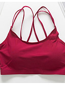 cheap Bras-Women's Full Coverage Bras Sports Bras / Padded Bras / Seamless - Solid Colored / Letter