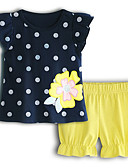 povoljno Kompletići za bebe-Dijete Djevojčice Osnovni Na točkice Kratkih rukava Pamuk Komplet odjeće / Dijete koje je tek prohodalo