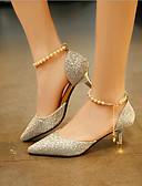ieftine Bluză-Pentru femei Pantofi PU Vară Confortabili Tocuri Toc Jos Auriu / Negru / Argintiu