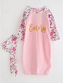 povoljno Kompletići za djevojčice-Beba Djevojčice Aktivan / Osnovni Jednobojni Dugih rukava Haljina