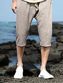 ieftine Pantaloni Bărbați si Pantaloni Scurți-Bărbați De Bază Mărime Plus Size Bumbac / In Larg Pantaloni Chinos Pantaloni Mată / Sfârșit de săptămână